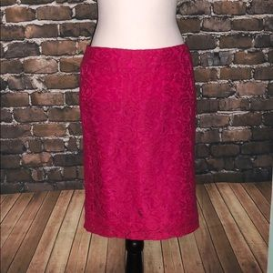 Merona skirt prom pink high waist lace sheer 6